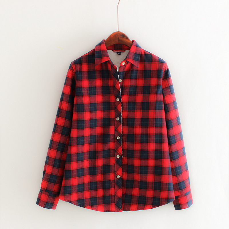Online Cheap Plaid Flannel Shirt Women Group