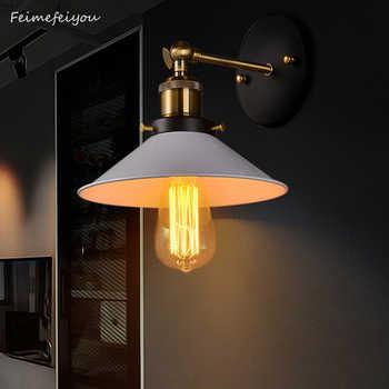 Feimefeiyou European antique iron small cover wall lamp village personality creative wall lamp retro iron lighting BLACK/WHITE - Category 🛒 Lights & Lighting