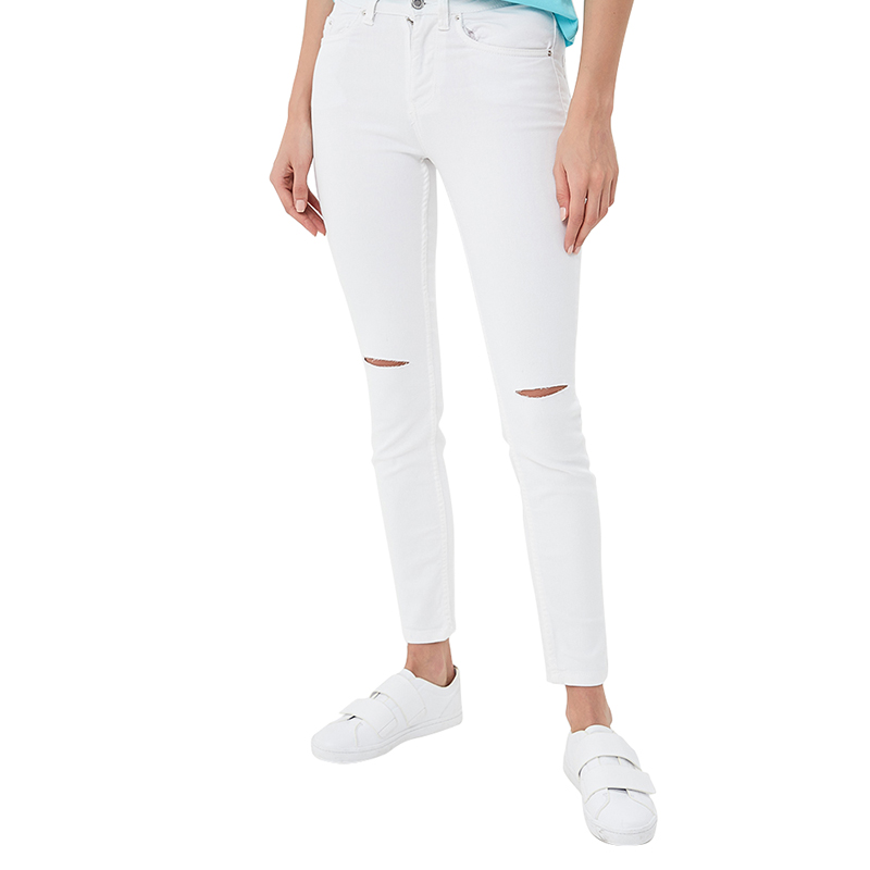 Jeans MODIS M181D00291 women pants  clothes apparel for female TmallFS цены онлайн