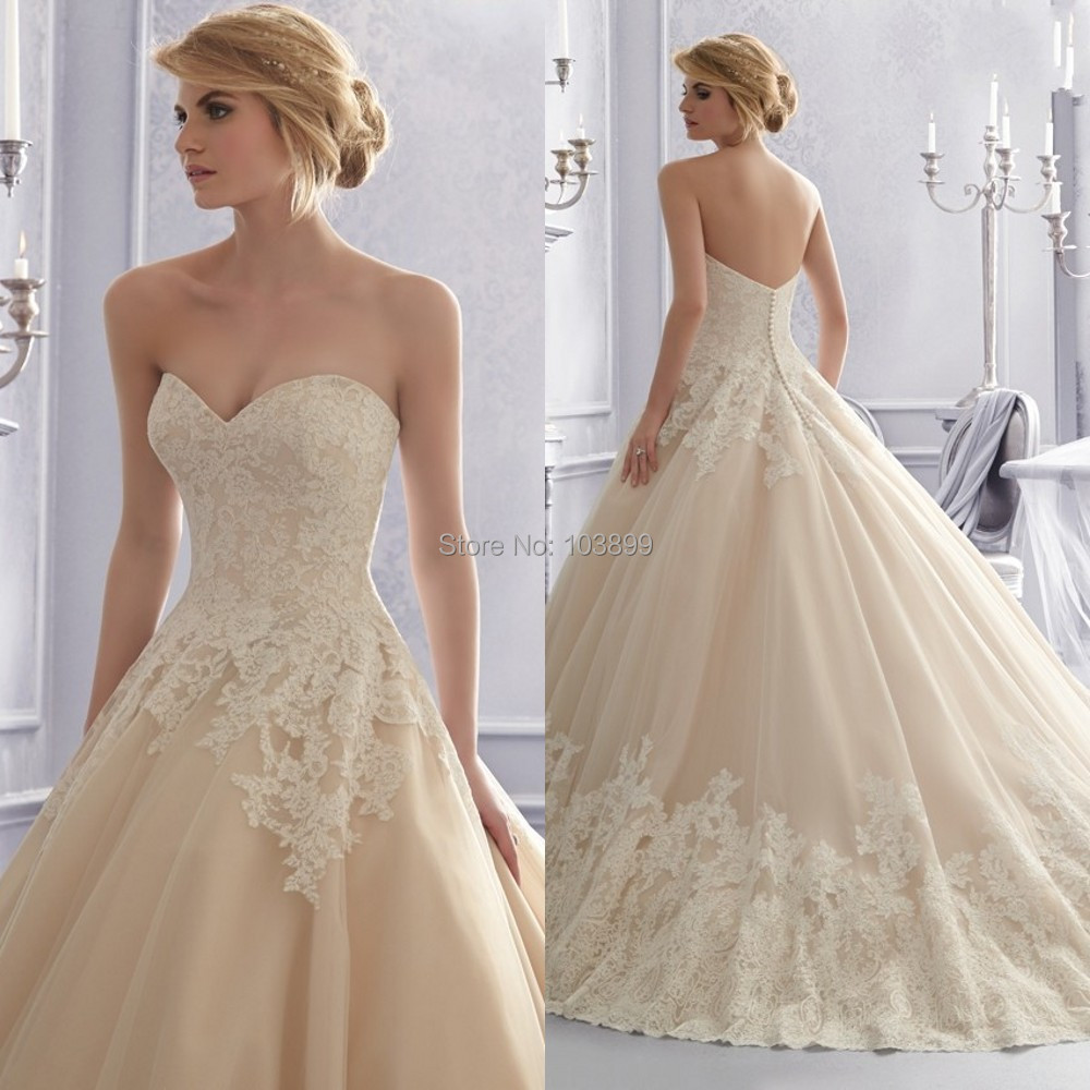 Champagne Vs Ivory Color Wedding Dresses White