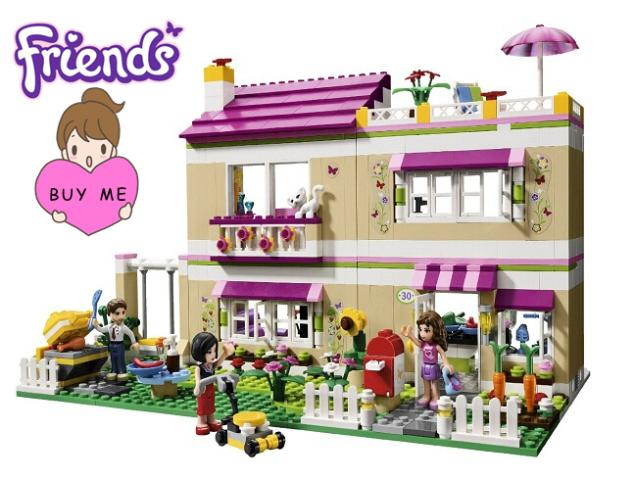 695+pcs Girls Friends Set Series City Olivias House Doll Building Brick Blocks Toy Figure Gift Lepin 10164 2017 hot sale girls city dream house building brick blocks sets gift toys for children compatible with lepine friends