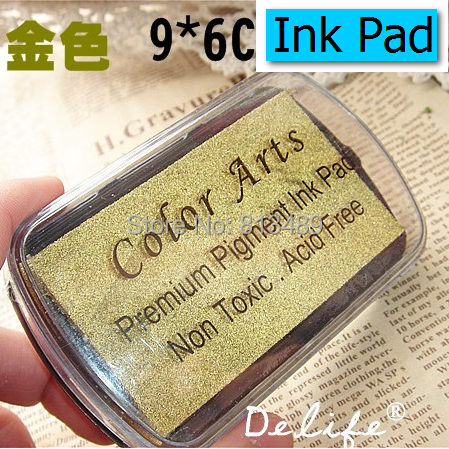 Gold Color Arts Premium Ink Pigment Ink Pads DIY ink pad wedding decoration inkpad set Free shipping wholesale b14 arthur 15 inkpad diy s0051
