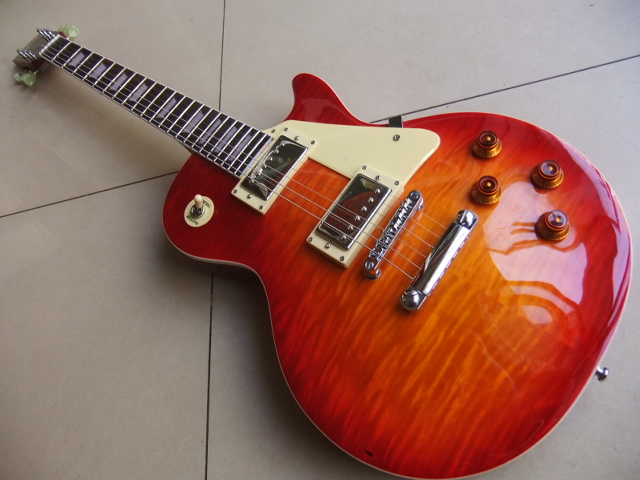 New Arrival lp standard electric guitar mahogany body maple top best quality in Cherry Burst  111205 newest arrival best prices ace frehley budokan signature electric guitar lp in stock for sale