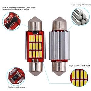 Image 3 - 100 pièces/lot, éclairage dôme, éclairage intérieur de voiture, ampoules c5w, plaque dimmatriculation 12v, Led 36mm 39mm 41mm 12SMD 4014 pièces/lot