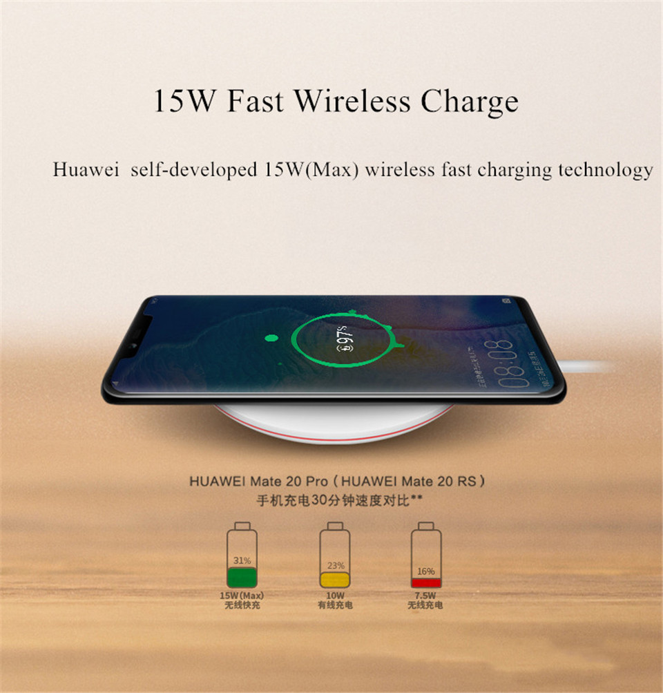 Huawei Wireless Charger 15W(Max) Fast Charge Version Type-C Qi Smart Quick Charger For Huawei Mate20 Pro/Mate20 RS For iPhone X - ANKUX Tech Co., Ltd