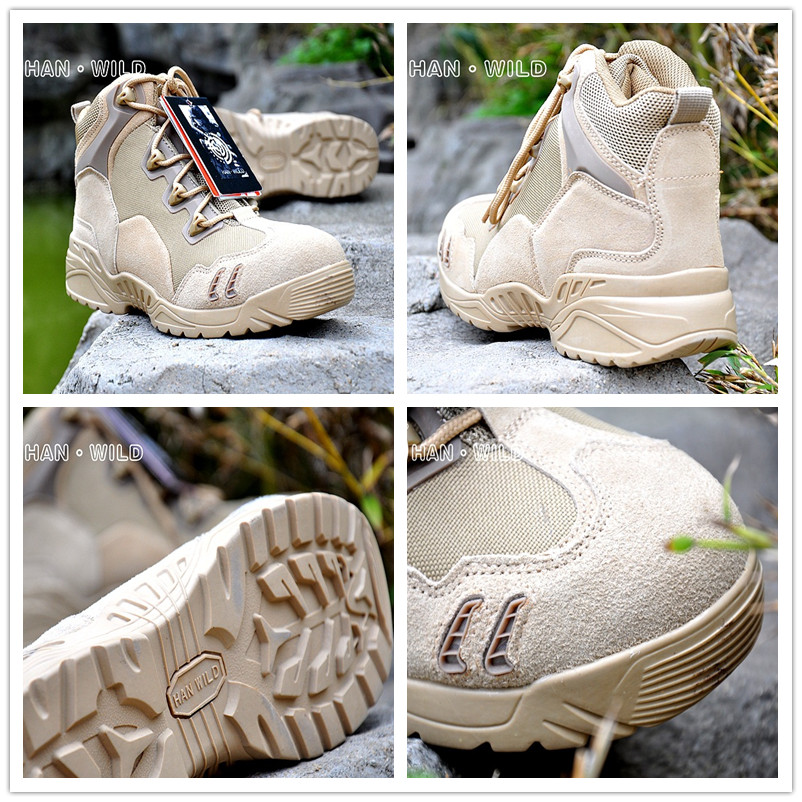 High Quality Tactical War Game Hunting Boots Men Leather Sneakers Waterproof Breathable Outdoor Sport Botas Camping Hiking Shoes