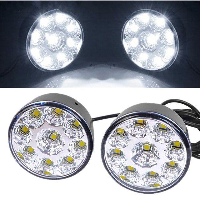 10 paar Waterdichte led drl dagrijverlichting Mistlamp Wit 9 LED SMD ...