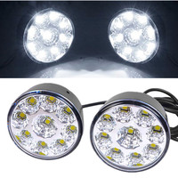 10pair Waterproof Led Drl Daytime Running Light Fog Lamp White 9 LED SMD Day Lamps Car