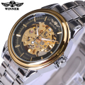 Winner Mechanical Watch Men Top Brand Hollow Skeleton Automatic Mechanical Watch Men Steampunk Steel Watch Gear Watch Erkek Saat