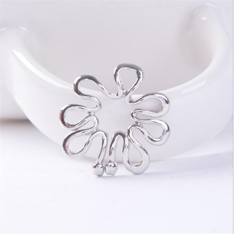 Schuhe Velishy2pcs 316l Edelstahl Nicht Piercing Clip Auf Blume Entwicklung Nippel Ring 10mm Weihnachtsgeschenke