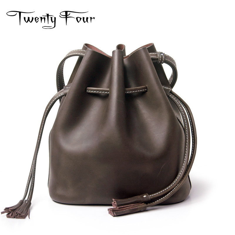 Twenty-four New Designer Women Bucket Bags Fresh Style Small Shoulder Bags Brand Luxury Bags For Young Ladies Cross Body Bags new brand designer women fashion backpacks simple koran style school for teenager girls ladies shoulder bags black