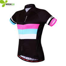 WOSAWE Summer Sports Women Short Sleeve Cycling Jerseys Bike Bicycle Jersey Quick-dry Outdoor Shirt