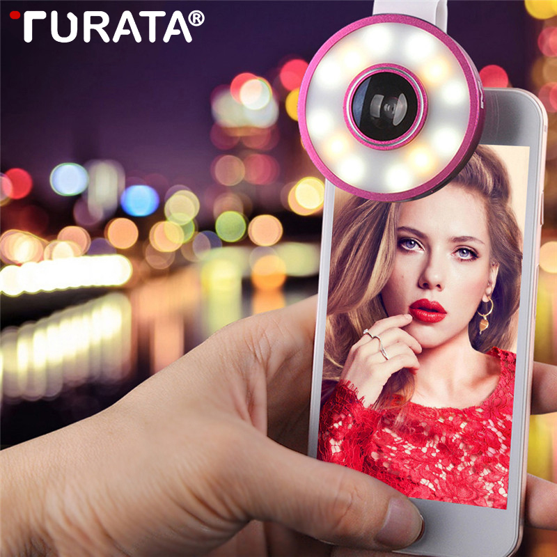 Turata 3 in 1 Mobile Phone Lens Fisheye Lens Wide Angle Macro Clip-on HD External Telephoto Lens Replacement Camera Lens Kits