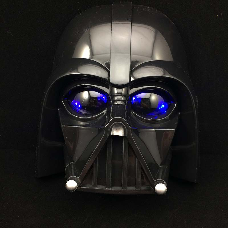 10pcs light star war mask stormtrooper helmet darth vader mask cosplay black warrior halloween party masks masquerade masks in party masks from home - Halloween Darth Vader