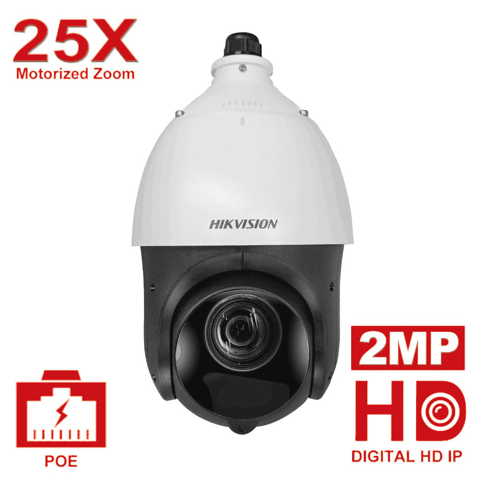 Originale Hikvision PTZ Macchina Fotografica del IP di DS-2DE4225IW-DE 2 Megapixel Motorizzato 25X Zoom Velocità Della Cupola del CCTV Della Macchina Fotografica di IR 100 m Lente 4.8 -120mm