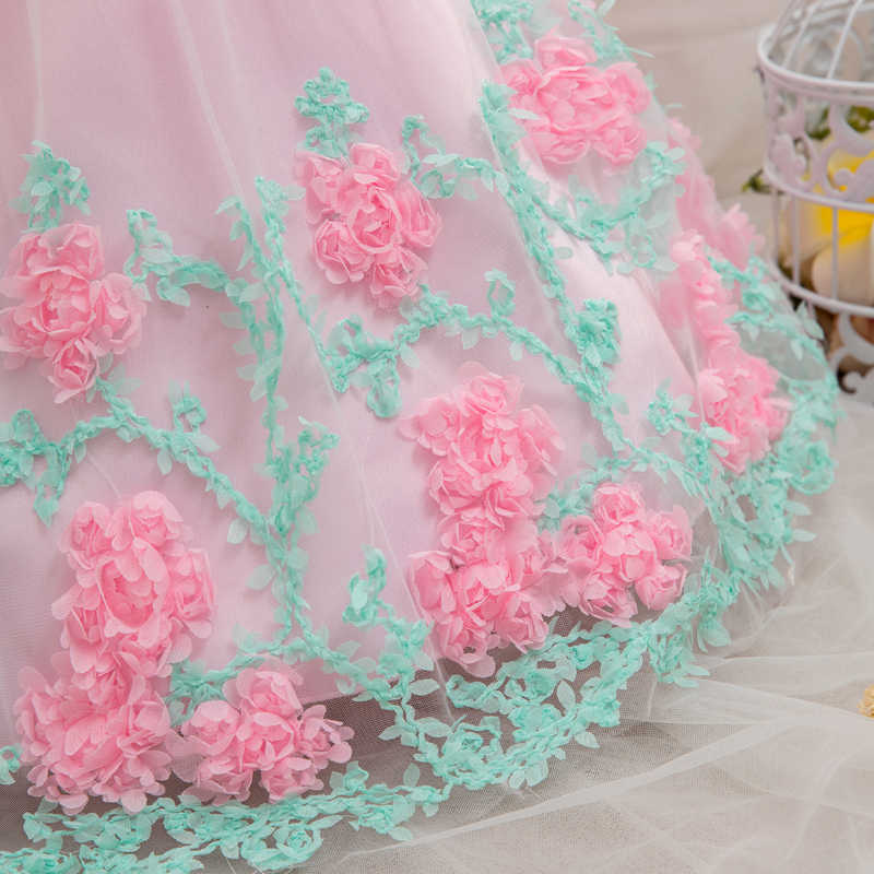 d49e4d34e8f7c Baby Girl Party Frock Dress Baptism Dresses for Girls 1st Year Birthday  Party Flower Wedding Christening Infant Clothing bebes
