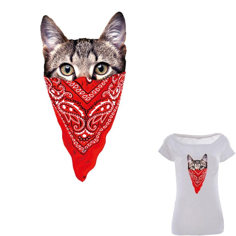 آهن گربه ناز در تکه های لباس چاپ سطح پخت و پز قابل چاپ در لباسهای تی شرت پیراهن انتقال گرما
