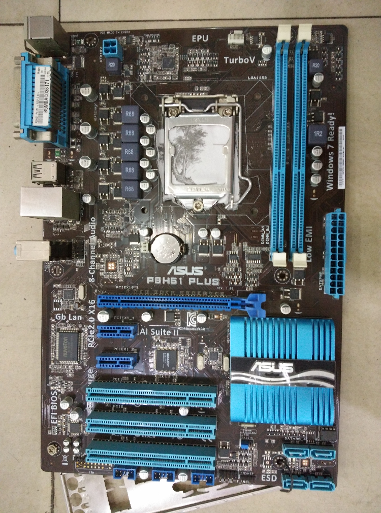 original motherboard for ASUS P8H61 PLUS DDR3 LGA 1155 16GB USB2.0 SATAII ATX H61 Desktop Motherboard Free shipping original motherboard h61 plus boards lga 1155 ddr3 mainboard 16gb h61 desktop motherboard free shipping