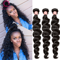 8A Peruvian Virgin Hair Loose Wave 3 Pcs Peruvian Curly Hair Bundles Rosa Queen Hair Products Peruvian Loose Wave Virgin Hair