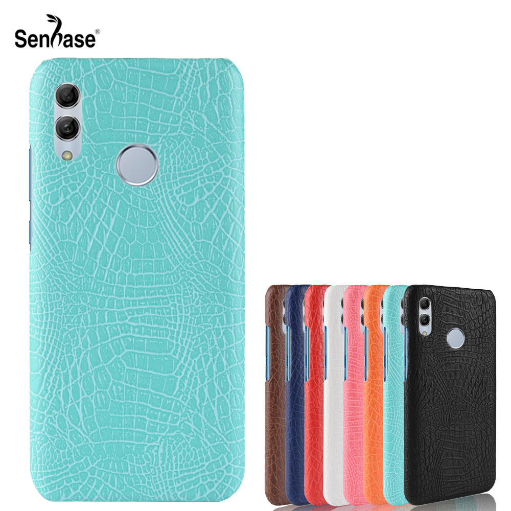 For Huawei P Smart 2019 Case Business Crocodile Pattern Pu