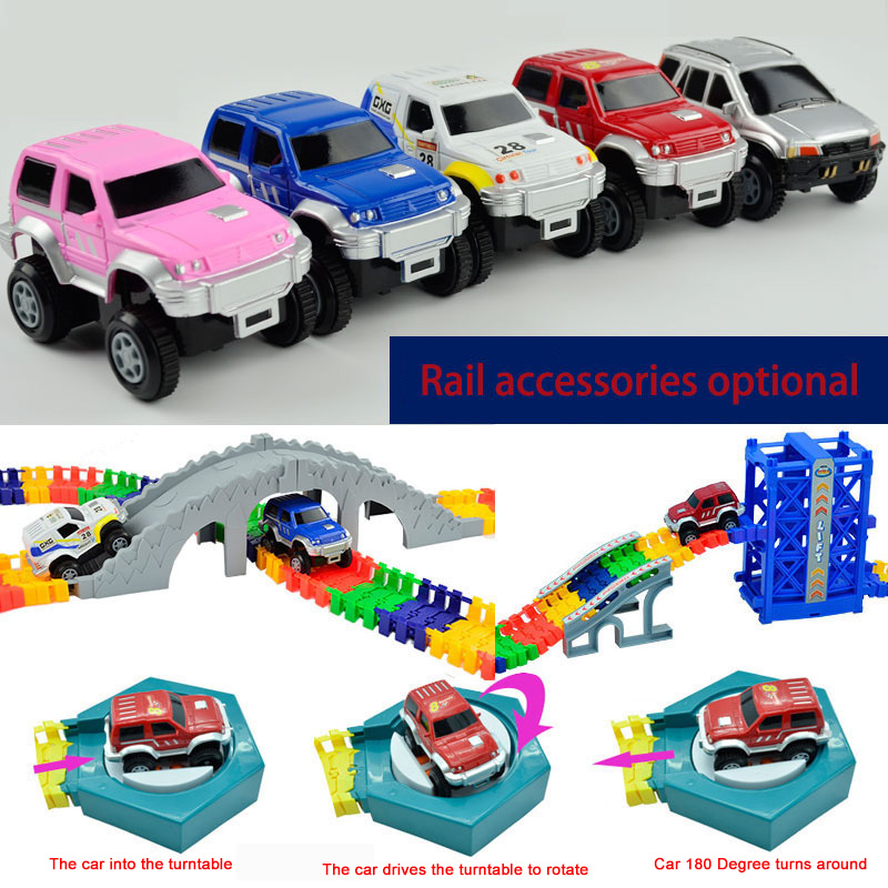 Magical track funny Glowing Track Magic Electric <font><b>Car</b></font> Track <font><b>Model</b></font> Rail DIY track Accessories gifts Educational toys for children image