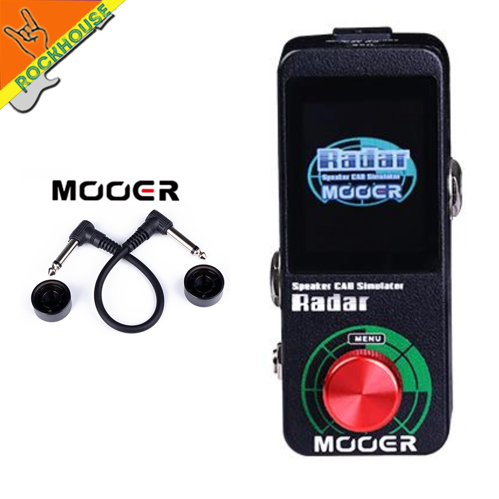 MOOER Radar CAB Simulator with 30 Speaker Cabinet Models 11 Microphone models 36 user presets Capable
