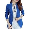 (Verde Azul) Mulheres Blazers E Jaquetas Longo-sleeved Terno Ms. Blazer Femme Blaser feminino Blazer Ocasional para Senhoras
