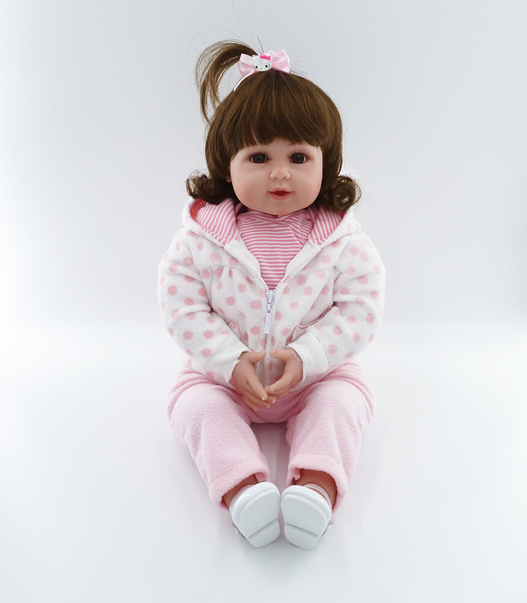 50cm Silicone Reborn Baby Doll Toys Lifelike Vinyl Smile Princess Toddler Dolls Birthday Gift Play House Toy Girls Brinquedos silicone reborn baby doll toy lifelike reborn baby dolls children birthday christmas gift toys for girls brinquedos with swaddle