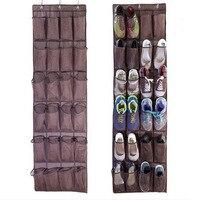 Práctico 24 bolsillo puerta colgando zapatos rack holder organizador de almacenamiento la pared para Zapatos almacenamiento titular