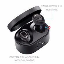 XIAOWU Wireless Earbuds Mini Sport Earpiece Hi-Fi Music Earphones New Bluetooth 4.2v Earbuds with Mic for iPhone Samsung Android(China)