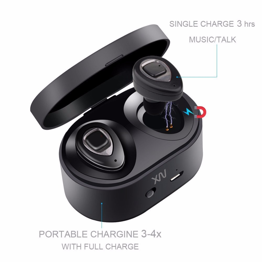 XIAOWU Wireless Earbuds Mini Sport Earpiece Hi-Fi Music Earphones New Bluetooth 4.2v Earbuds with Mic for iPhone Samsung Android