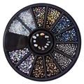 Color mezclado Camaleón Uñas Perlas Piedras Pequeñas Irregulares 3D Decoraciones Del Arte Del Clavo en La Rueda Del Clavo DIY Manicura Tip Accesorios