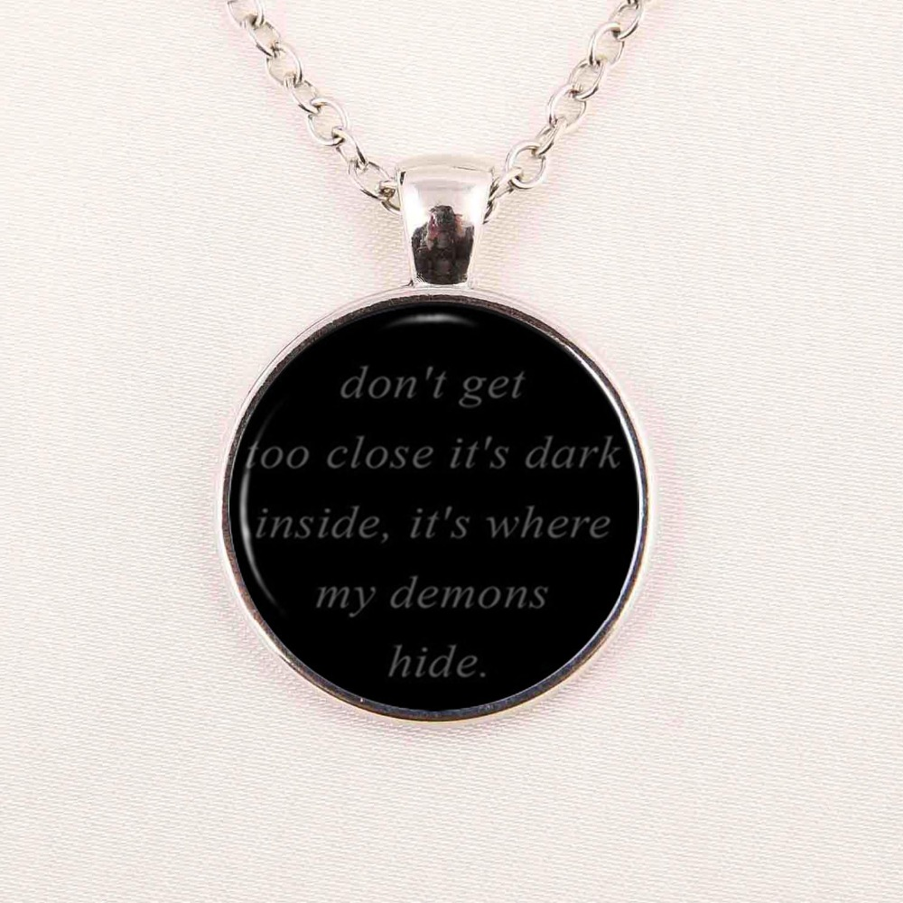 IMAGINE DRAGONS Black Dome Necklace Song Lyrics Quote Pendant Music Jewelry  Demons Link Chain Glass Cabochon Necklaces In Pendant Necklaces From  Jewelry ... Good Looking