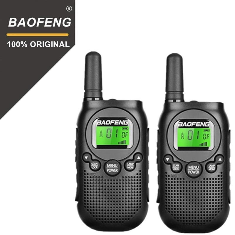 2pcs 2019 Newest License Free BAOFENG Two Way Radio BF-T6 Walkie Talkie  T6 Mini Kids Woki Toki