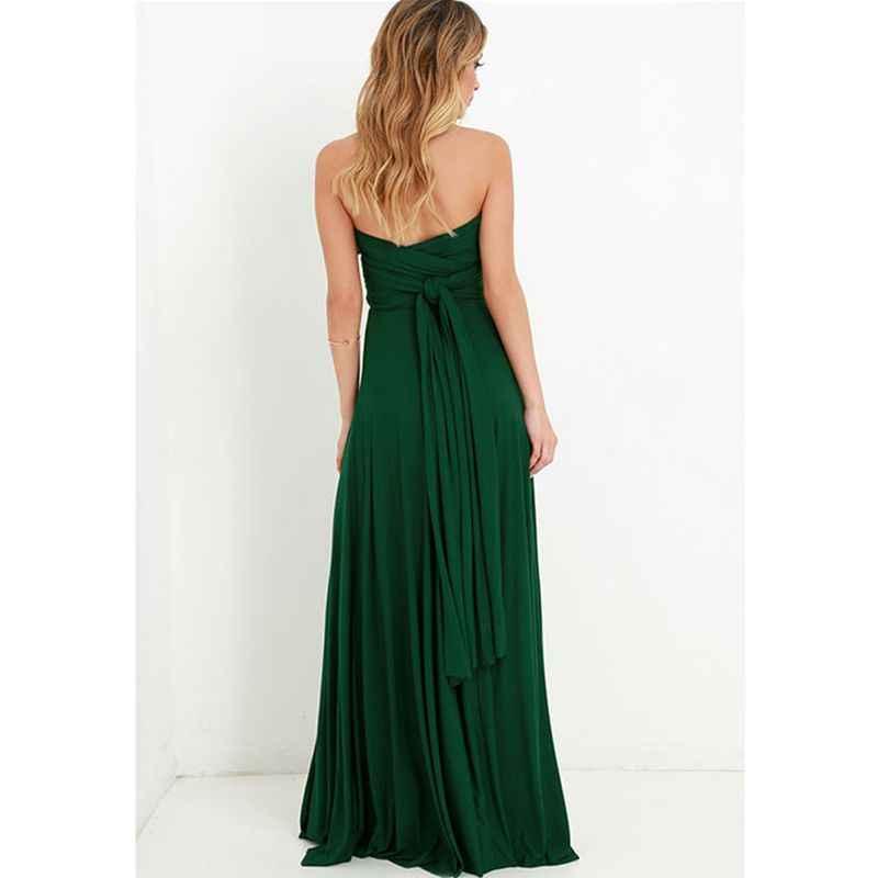 ชุดผู้หญิง 2019 ฤดูร้อนยาวรถ Bohemian Casual Evening Prom Club Party Infinity Multiway Maxi Dresses
