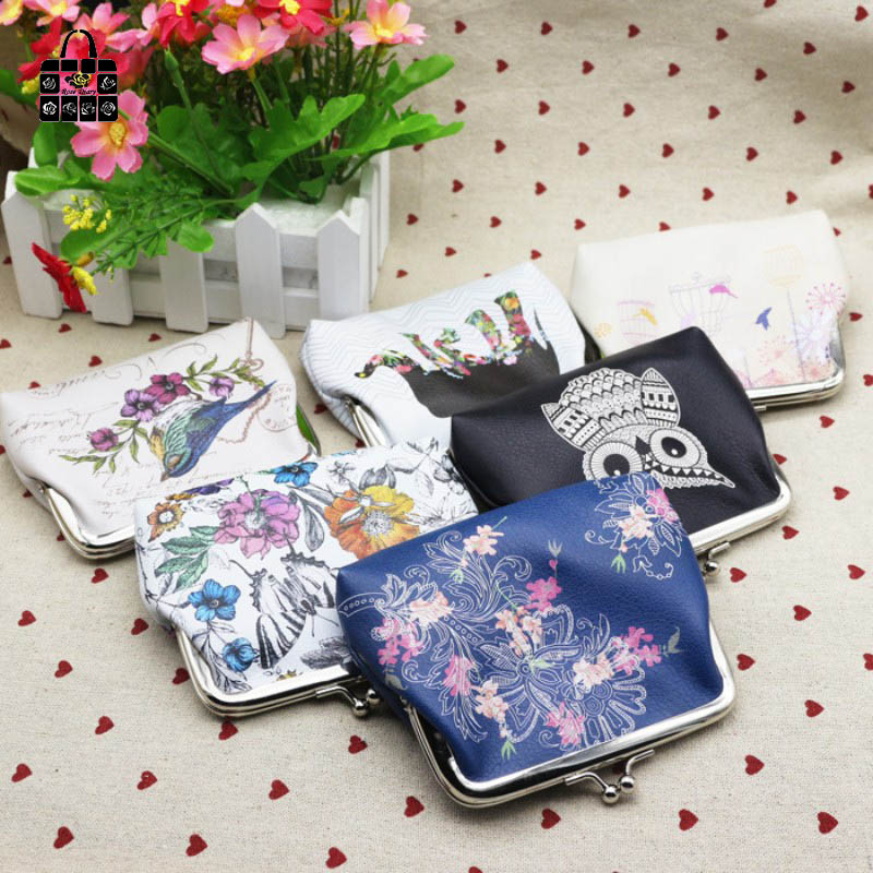 ROSEDIARY Women Cute animal Coin Purse PU Leather Wristlet lady Wallet Girls Change Pocket Pouch Hasp Bag Keys Case