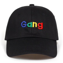 2018 New Fashion Gang Embroidery dad hat Baseball Caps Cotto