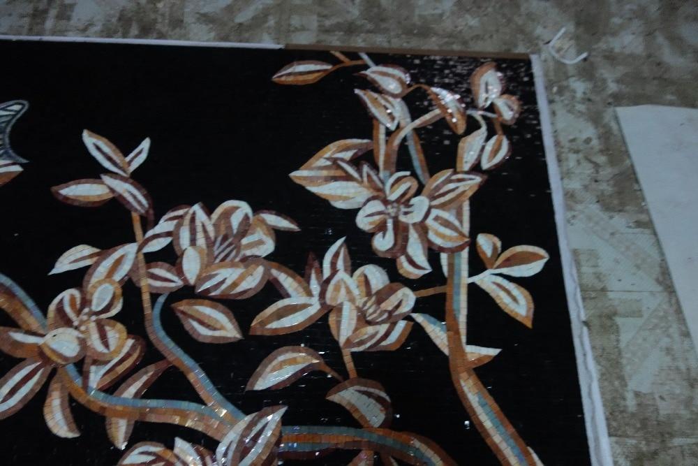 mural de parede completo de obras de arte em mosaico de vidro feito - Decoração de casa - Foto 5
