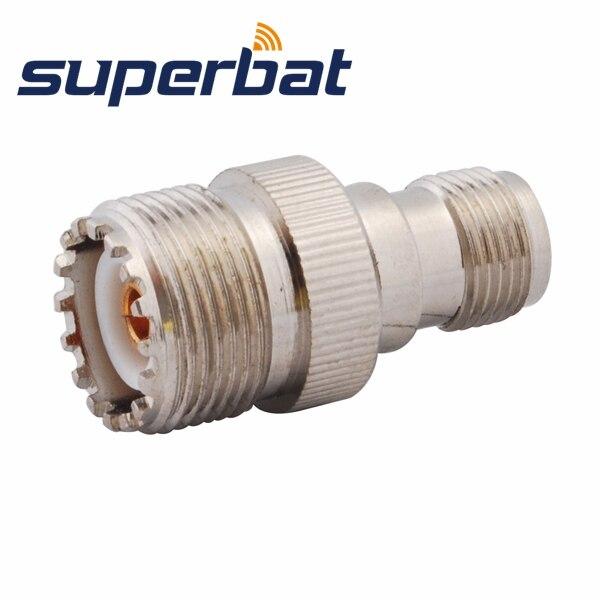Superbat RF Connector TNC-UHF Adapter TNC Female Jack To UHF SO239 Jack Straight
