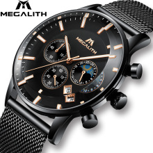 MEGALITH 2019 Fashion Sport Mens Watches Top Brand Luxury Waterproof Ch
