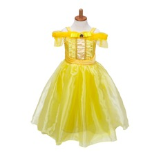 Kids Belle Cosplay Costume Girls Summer Dress Baby Girl Princess Halloween Rapunzel Aurora Vestidos