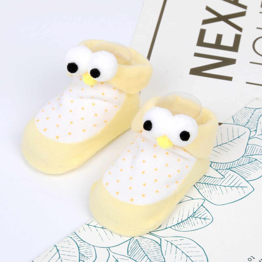 Moda Zapatos para niños recién nacidos niños niñas dibujos animados ojos piso Calcetines antideslizantes zapatos de bebé suela blanda zapatillas primero walker @ 30