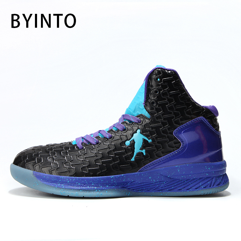 photos officielles 1bcf3 0619d US $23.68 49% OFF|2019 High Top Jordan Men Basketball Shoes Women Basket  Ball Leather Sneakers Anti skid Outdoor Sport Shoes Chaussure Homme  Femme-in ...