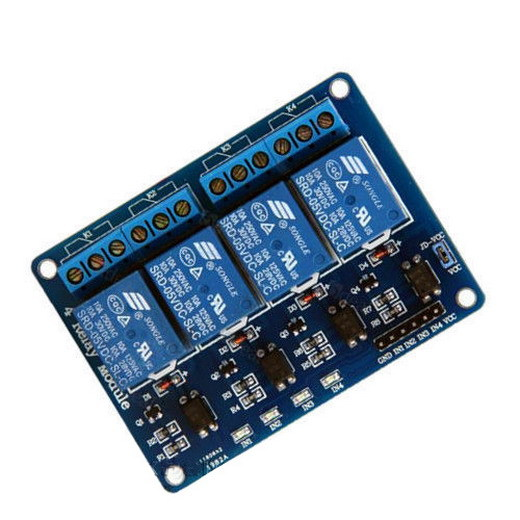 A9 5V Four 4 Channel Relay Module optocoupler For PIC AVR DSP ARM Arduino 805 5v 4 channel relay module for arduino pic arm dsp avr msp430 blue