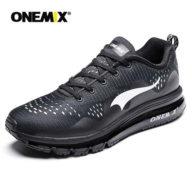 ONEMIX Air 95 Esportes Homens Correndo Sapatos de amortecimento respirável Massagem athletic Tênis para homens Max 270 sapatos esportivos masculinos ao ar livre