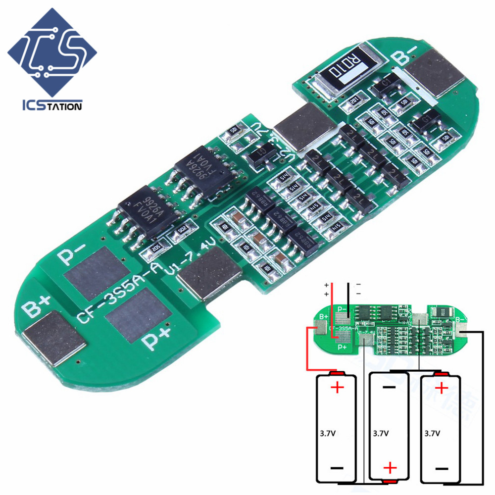 Power Bank Charger Module Charging Protection Board PCB Dedicated For 3pcs 18650 6A Lithium Battery 18650 lithium battery 5v micro usb 1a charging board with protection charger module for arduino diy kit