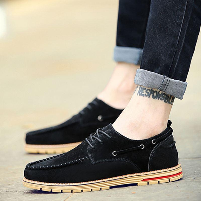 Peso Dos De Novo Escuro Flats Sapatos Respirável Outono Homens cáqui Aa20440 cáqui Sapatas Preto Design Leve Trabalho Primavera Vestido t4BqIIdwx
