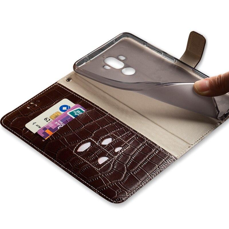 Coque de téléphone à boucle à clapet motif Crocodile pour Nokia X6 coque de téléphone en cuir véritable