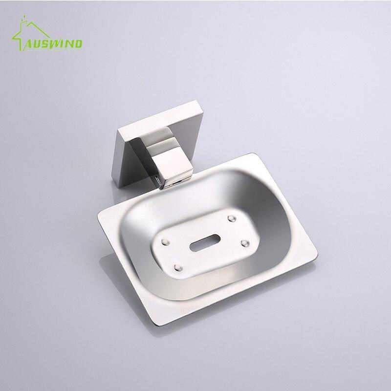 Moderne SUS 304 acier inoxydable salle de bain titulaire moderne lisse miroir salle de bains accessoires matériel Set porte-savon - 3