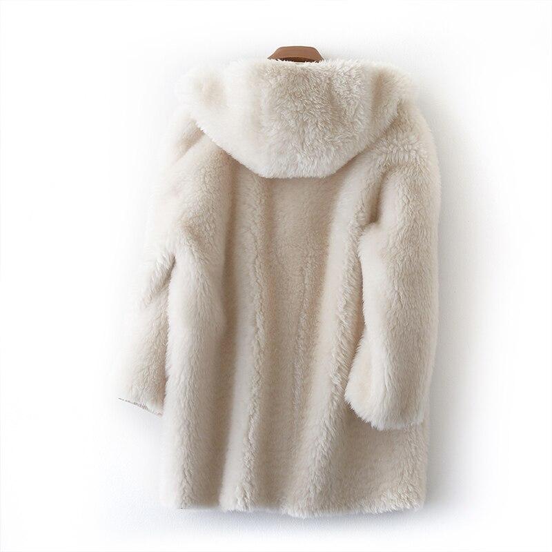Mantel Pelz Frauen Qualit gute Winterjacke Nat zusammengesetzte Fleisch Phoenix Mittellang starke warme PU Schicht t 71107l Schaf New v0mN8nOyw